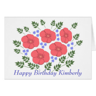 Tarjeta de cumpleaños floral de los años 70 retros