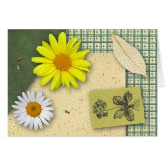 Tarjeta de cumpleaños floral del libro de