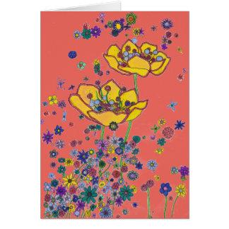 Tarjeta de cumpleaños - flores amarillas grandes