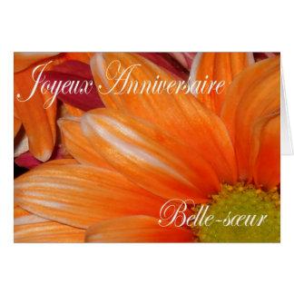 Tarjeta de cumpleaños francesa para la cuñada