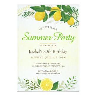 Tarjeta de cumpleaños fresca del limón