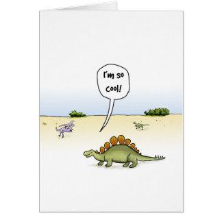 Tarjeta de cumpleaños fresca del Stegosaurus