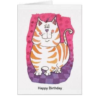 Tarjeta de cumpleaños - gato