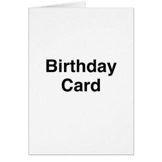 Tarjeta de cumpleaños genérica