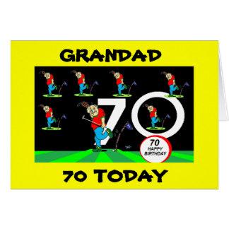 TARJETA de CUMPLEAÑOS GOLFING del GRANDAD 70.o