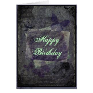 Tarjeta de cumpleaños gótica