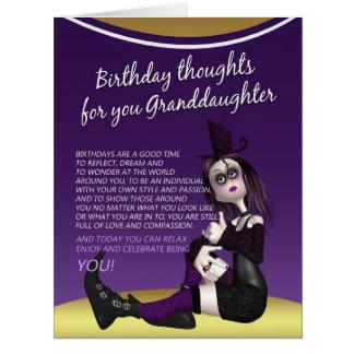 tarjeta de cumpleaños gótica de la nieta - mil del
