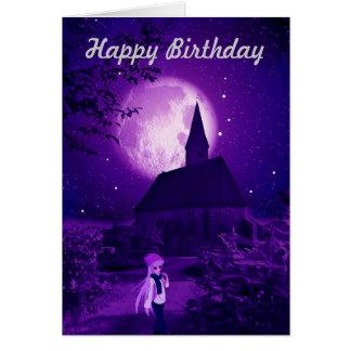 Tarjeta de cumpleaños gótica del tween
