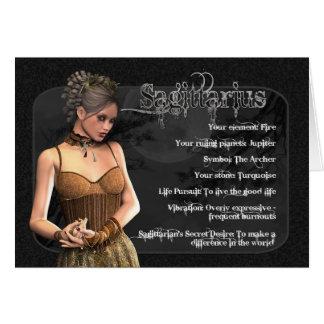 Tarjeta de cumpleaños gótica del zodiaco del sagit