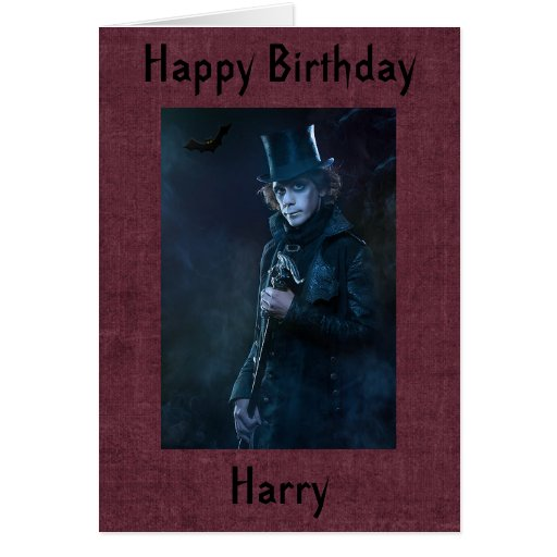 Tarjeta de cumpleaños gótica personalizada