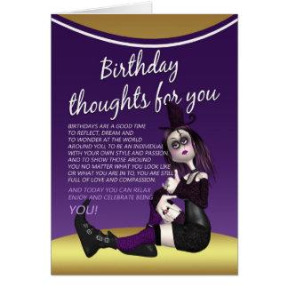 tarjeta de cumpleaños gótica - thaughts del
