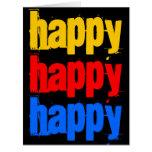 Tarjeta de cumpleaños grande feliz feliz feliz 8 x
