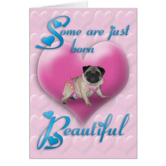 Tarjeta de cumpleaños hermosa llevada barro amasad