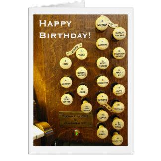 Tarjeta de cumpleaños ideal del órgano