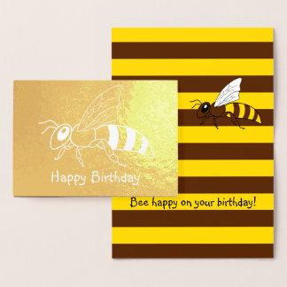 Tarjeta de cumpleaños invertida abeja del efecto