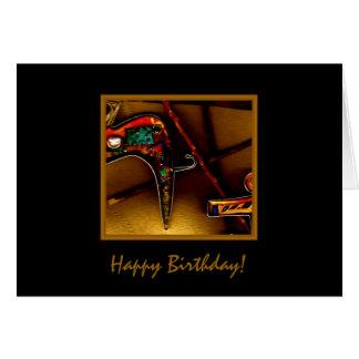 Tarjeta de cumpleaños Jewelled del gato