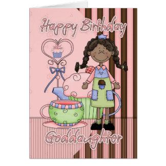 Tarjeta de cumpleaños linda de la ahijada - magdal