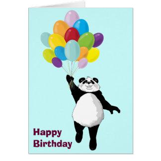 Tarjeta de cumpleaños linda de la panda