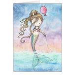 Tarjeta de cumpleaños linda de little mermaid