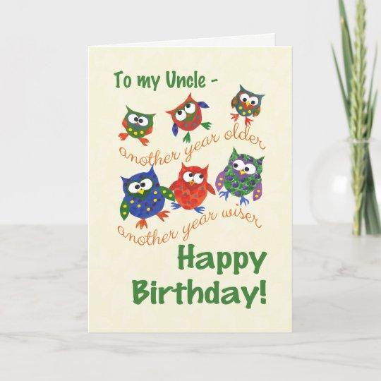 Tarjeta de cumpleaños linda de los búhos para un | Zazzle.es