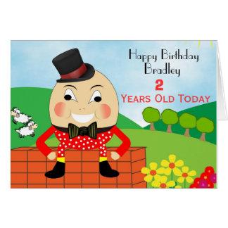 Tarjeta de cumpleaños linda de los niños de Humpty