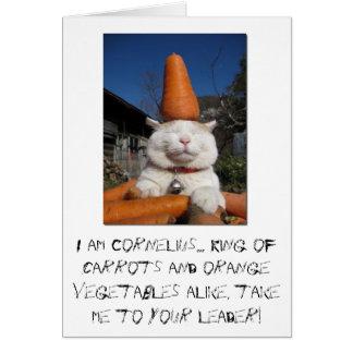 tarjeta de cumpleaños linda del gatito divertida