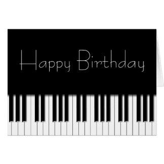 Tarjeta de cumpleaños - llaves de teclado de piano