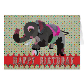 Tarjeta de cumpleaños majestuosa del elefante del