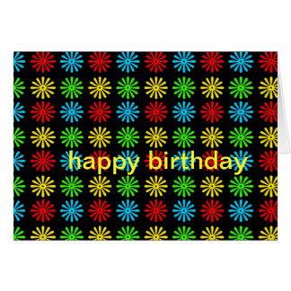 Tarjeta de cumpleaños - margarita retra de RGBY