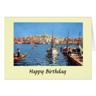 Tarjeta de cumpleaños - Marsella