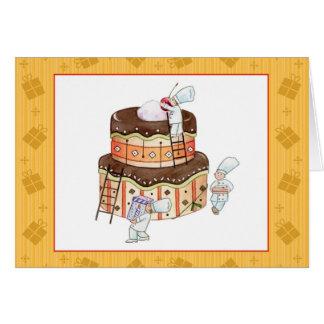 Tarjeta de cumpleaños minúscula de los cocineros