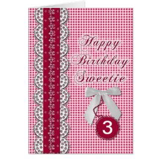 Tarjeta de cumpleaños - niño/mujer joven