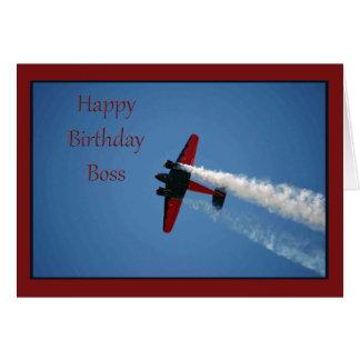 Tarjeta de cumpleaños para Boss