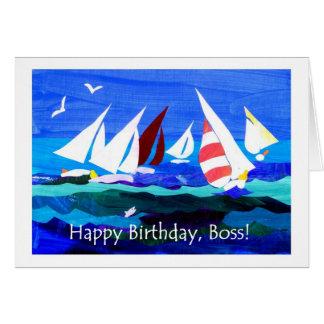 Tarjeta de cumpleaños para Boss - navegación