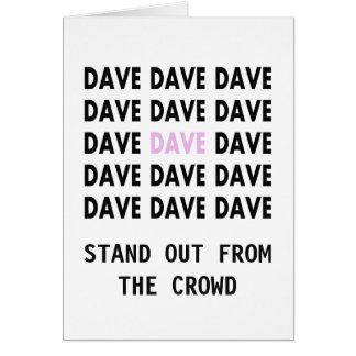 Las tarjetas vintage de Dave