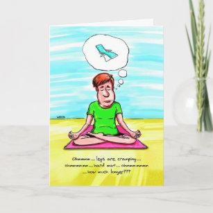 Tarjetas De Cumpleanos La Yoga Verticales Zazzle Es