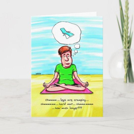 Tarjeta De Cumpleanos Para El Amante De La Yoga Zazzle Es