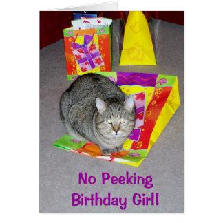 Tarjeta de cumpleaños para el amante del gato - ch