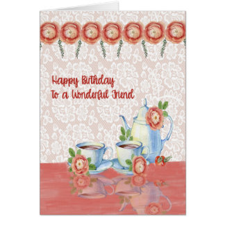 Tarjeta de cumpleaños para el amigo con diseño del