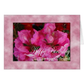 Tarjeta de cumpleaños para el amigo especial