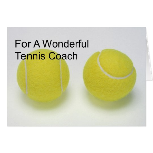 Tarjeta de cumpleaños para el coche de tenis