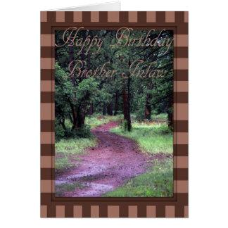 Tarjeta de cumpleaños para el cuñado