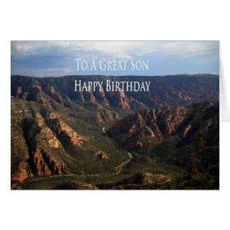 Tarjeta de cumpleaños para el hijo