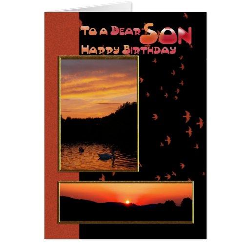 Tarjeta de cumpleaños para el hijo, estimado hijo