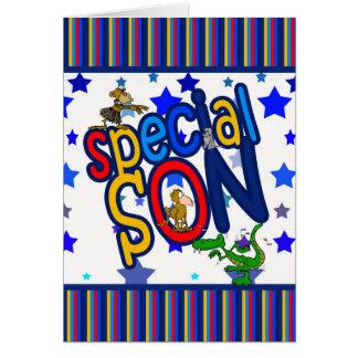 Tarjeta de cumpleaños para el hijo, hijo especial