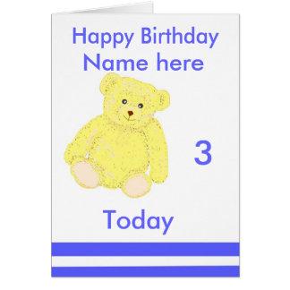 Tarjeta de cumpleaños para el muchacho joven,