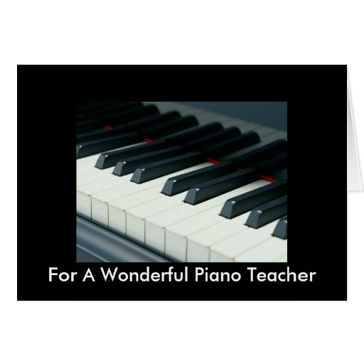Tarjeta de cumpleaños para el profesor de piano