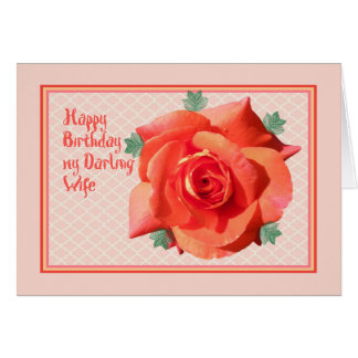 Tarjeta de cumpleaños para la esposa con color de