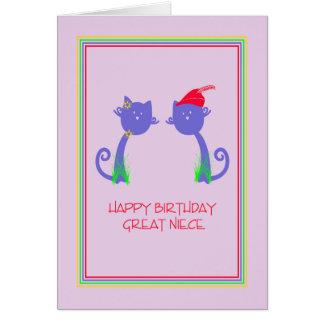 Tarjeta de cumpleaños para la gran sobrina