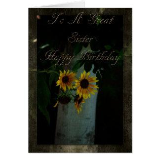 Tarjeta de cumpleaños para la hermana